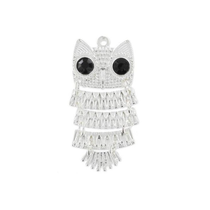 Articulated Owl pendant, 45mm, 1 pce
