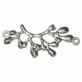 Pendant branch with 2 eyelets, 38x17mm