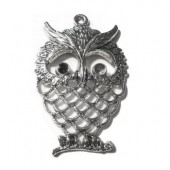Pendant Big Owl, silver colour, 58x38mm, 1 pce