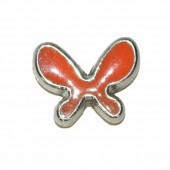 Butterfly bead, 20x15mm, orange, 2 pcs