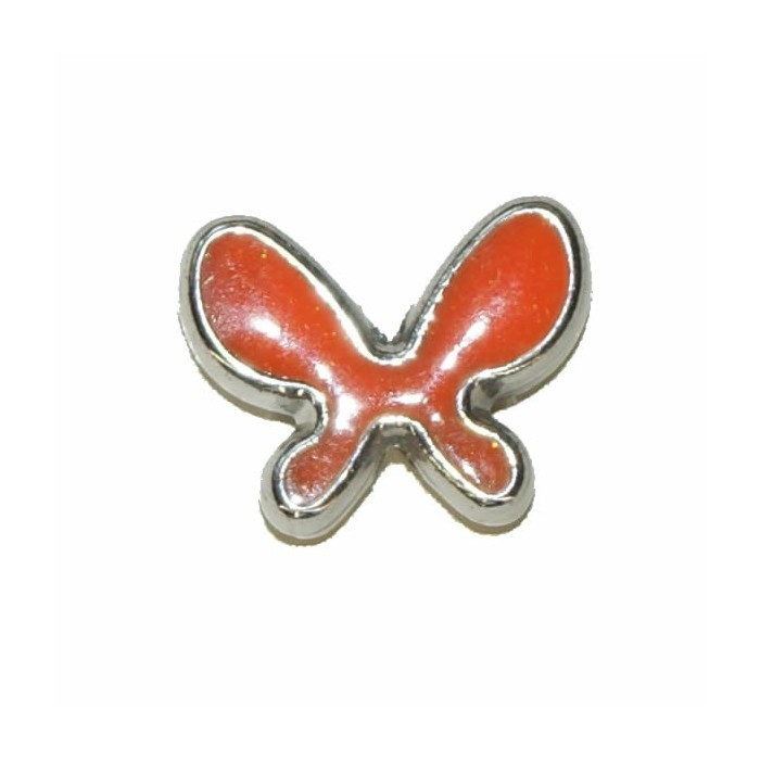 Pendant Butterfly, 20x15mm, orange, 2 pcs
