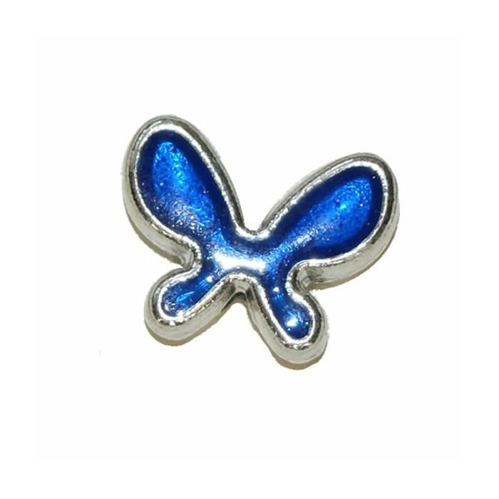 Pendant Butterfly, 20x15mm, blue, 2 pcs