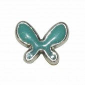 Perle papillon 20x15mm, turquoise, 2 pcs
