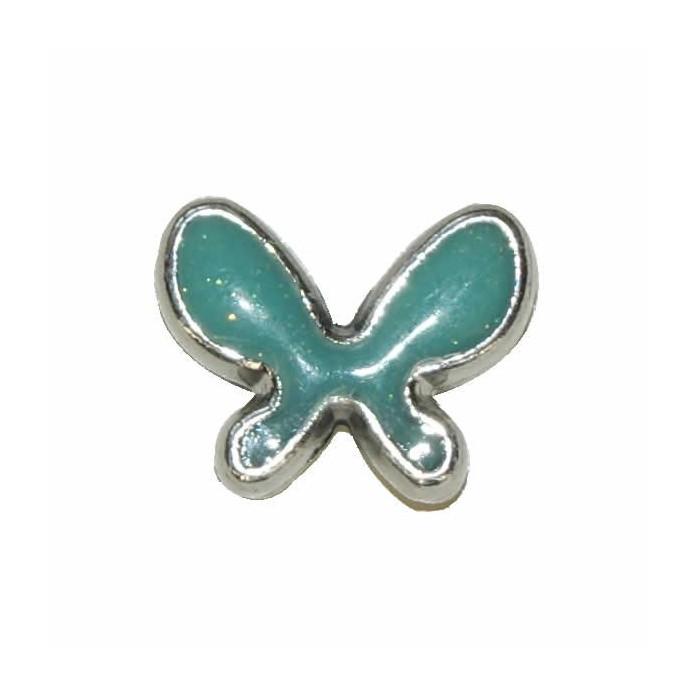 Pendant Butterfly, 20x15mm, turquese, 2 pcs
