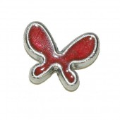 Perle papillon 20x15mm, rouge, 2 pcs