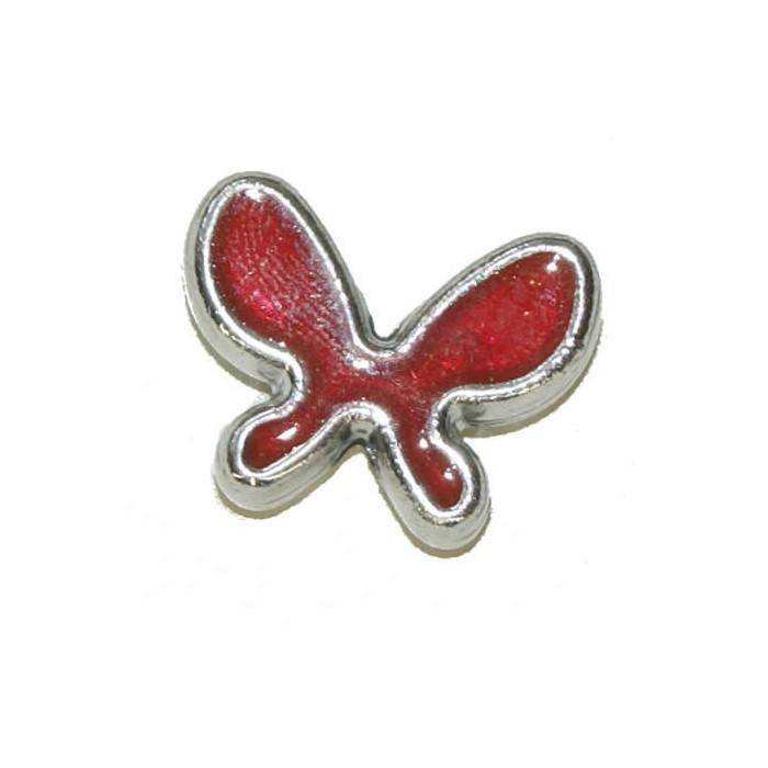 Pendant Butterfly, 20x15mm, red, 2 pcs