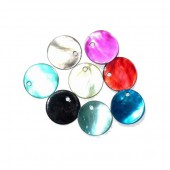 Mother-of-pearl pendants Ø12mm, 24 pcs