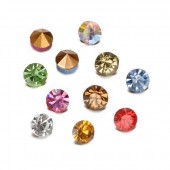 Rhinestones 3.8mm, mix, 40 pcs