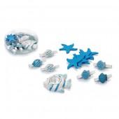 Set décoratif thème marin, 3-5cm, turquoise, 13 pcs