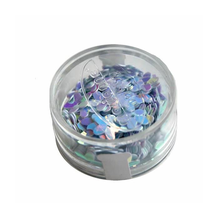 Glitter, flower 10mm, 6g, snow