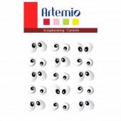 Artemio Brads - Eyes, 15 pcs