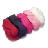 Merino wool extra fine, pink-mottled