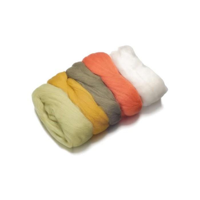 Merino wool extra fine, green-brown