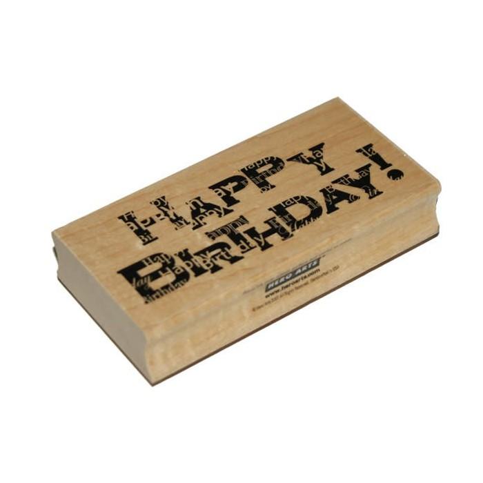 Hero Arts - Rubberstamp Happy Birthday