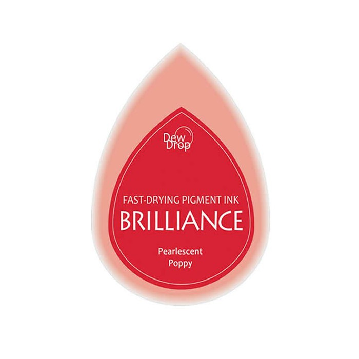 Brilliance stamp pad pearlescent poppy