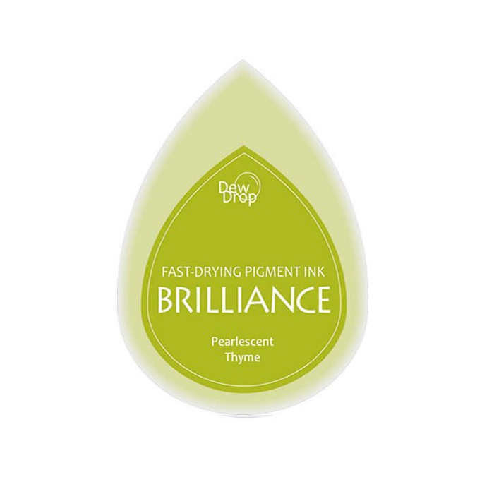 Brilliance stamp pad pearlescent thyme