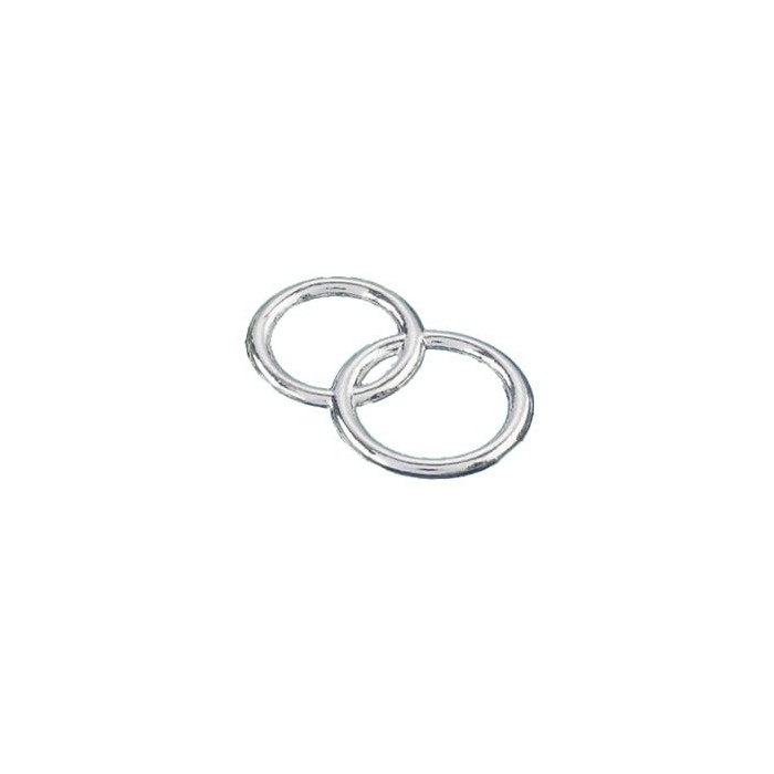 Decorative Wedding rings, silver, 2.5cm, 100 pcs