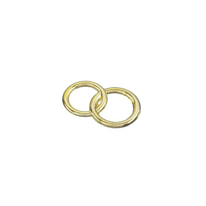 Decorative Wedding rings, gold, 2.5cm, 100 pcs