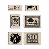 Etiquettes en tissu Vintage Post