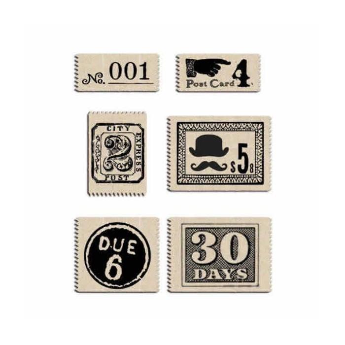 Fabric labels, Vintage Post
