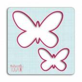 Pochoir couture Papillons