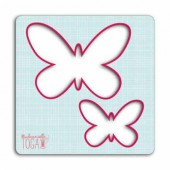 Creative stencil for sewing, butterflies