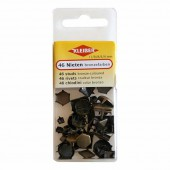 Assorted studs bronze-coloured, 46 pcs