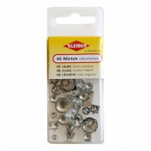 Assorted studs silver-coloured, 46 pcs