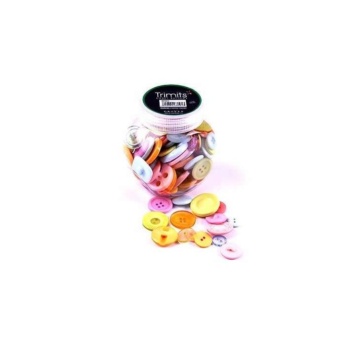 Assorted buttons pastel colors, 130 pcs