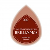 Brilliance stamp pad pearlescent chocolate