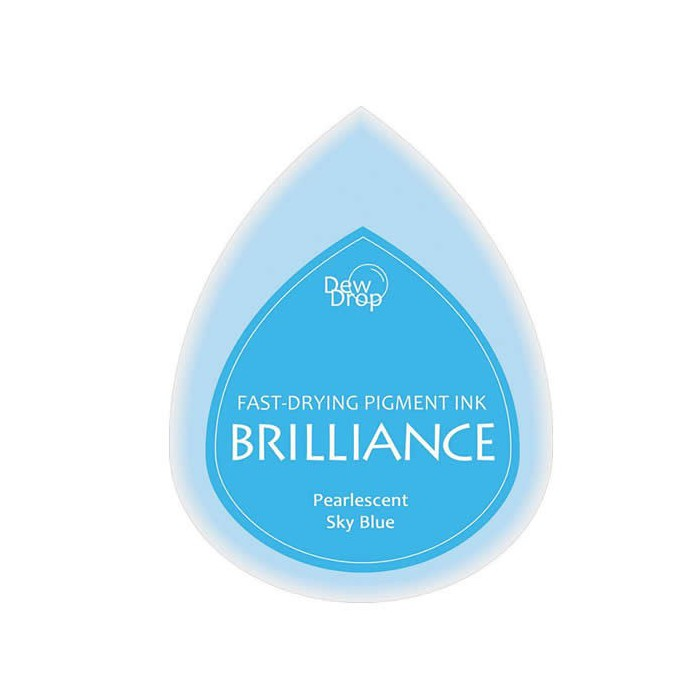 Brilliance stamp pad pearlescent Sky blue