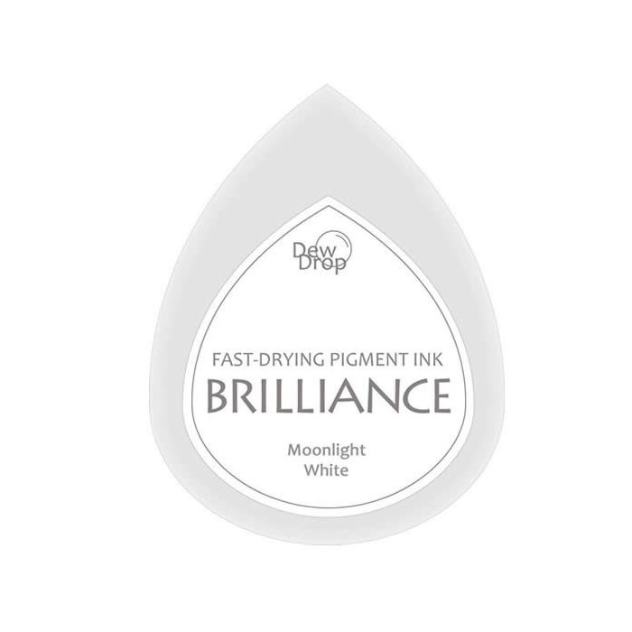 Brilliance stamp pad pearlescent moonlight white
