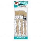 Set of 3 flat brushes