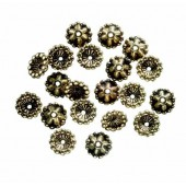 Bead cap 7mm, gold, 20 pcs