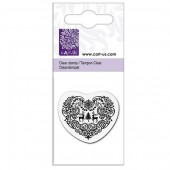 Clear stamp, Heart with reindeers