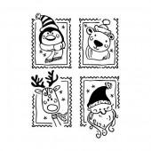 Rubberstamp Weihnachtsgrüsse