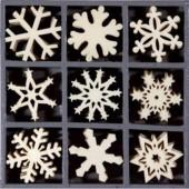 Wooden elements : snowflakes II