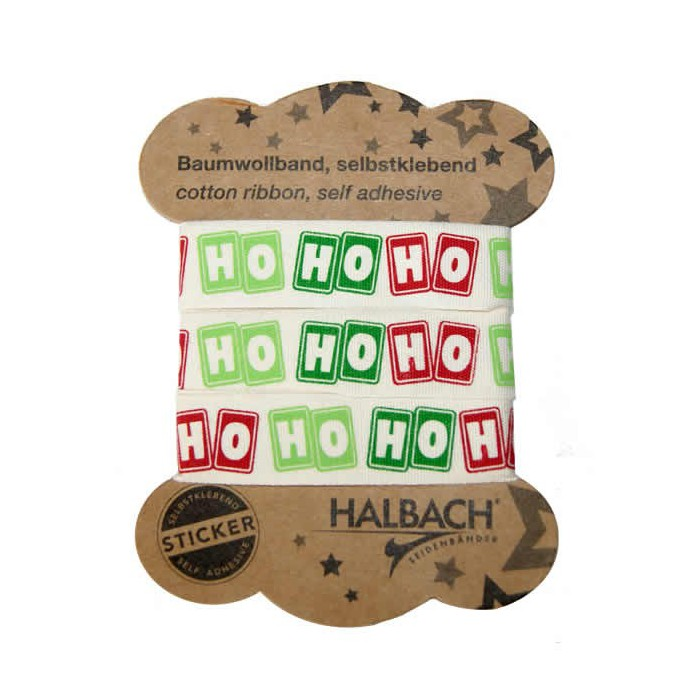 Adhesive Fabric Tape, Ho Ho Ho