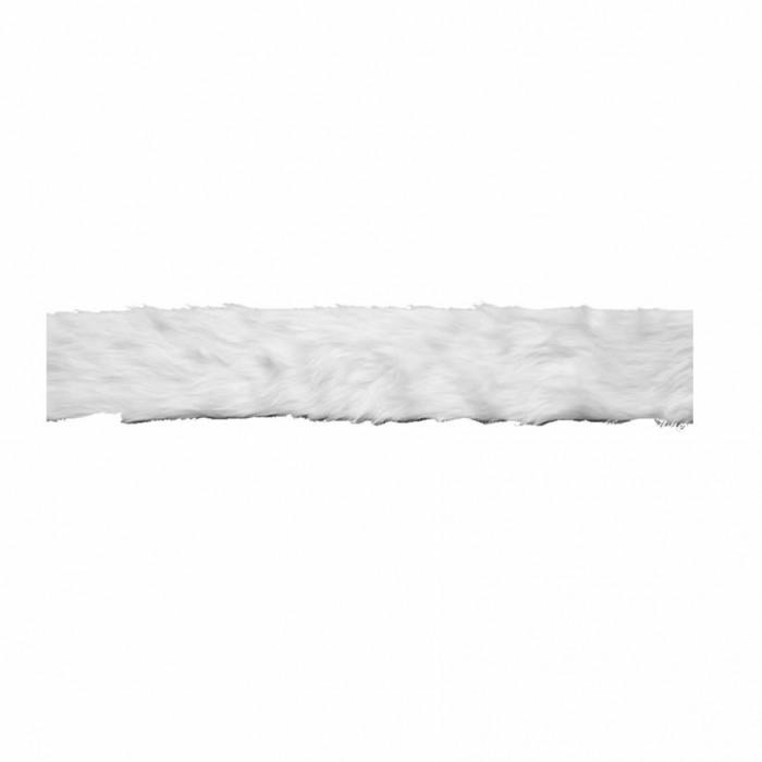 Synthetic fur, 10x200cm, white
