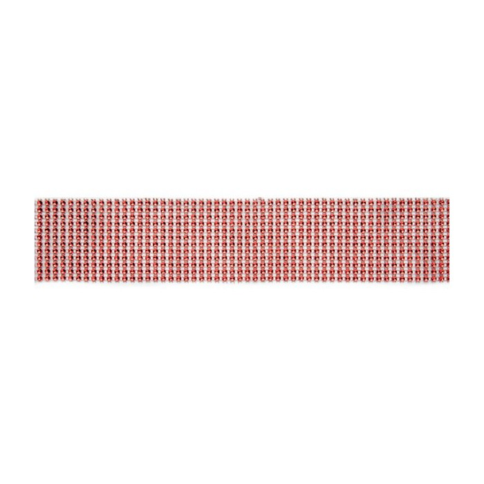 Rhinestones strip, 5.5x180cm, red