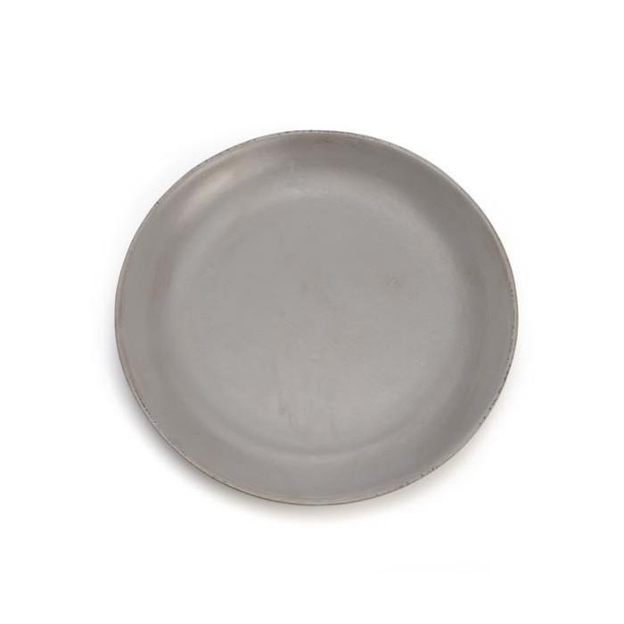 Wooden plate, Ø29cm, dark grey