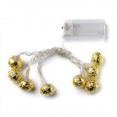 1.3m Indoor LED light chain, gold