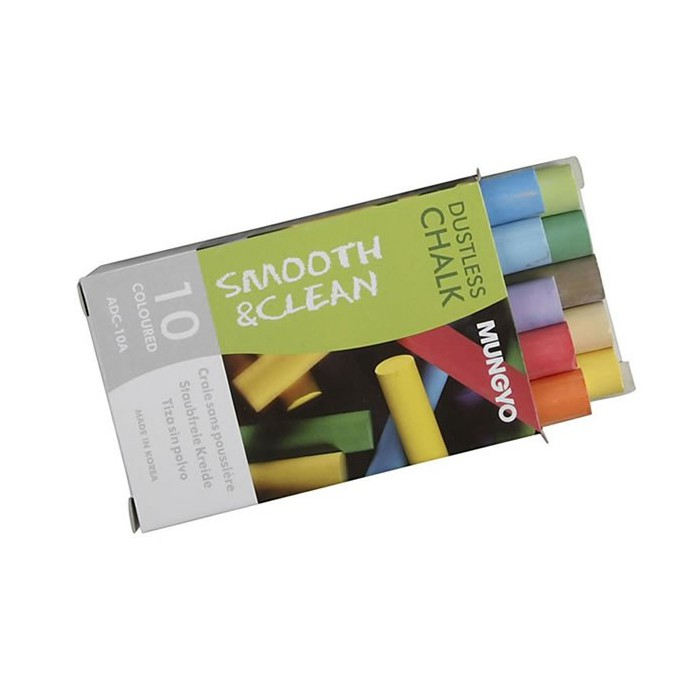 10 Colour chalks for blackboards