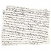 """Papier décoratif """"Musique"""", 10 feuilles A4"""