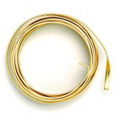 Flat aluminium wire, 1.2x4mm, 2m, gold