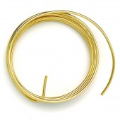 Alu wire, Ø 2mm/2m, gold