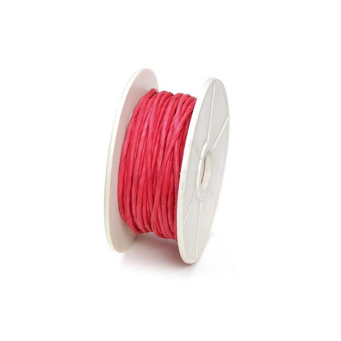 Paper wrap with wire, 1mm/10m, red