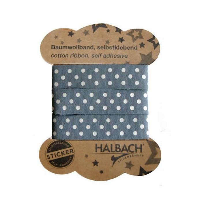 Adhesive Fabric Tape, dots grey