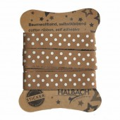 Adhesive Fabric Tape, dots brown