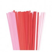 Quilling Stripes red/rose
